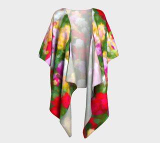 Painted Tulips Draped Kimono preview