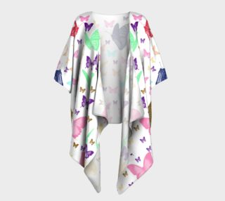 Butterfly Pattern Draped Kimono preview