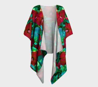 Hawaiian Hibiscus Flower Draped Kimono preview