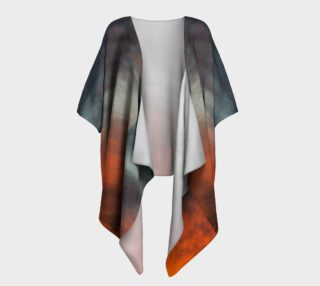 Fire after the Storrm Draped Kimono preview