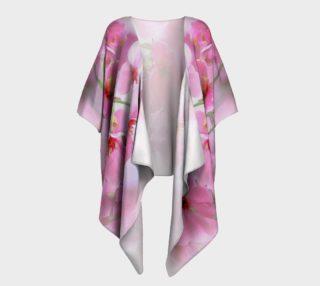 Water Color Peach Blossom Floral Draped Kimono preview