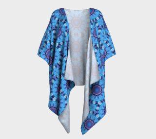 Aperçu de Retro Tie Dye Inspired Blue Abstract