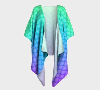Neon Rainbow Mermaid Kimono preview