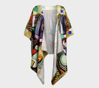 Picasso art collage  Draped Kimono preview