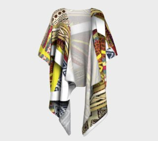 Border Faux Layered Kimono   110-2 preview
