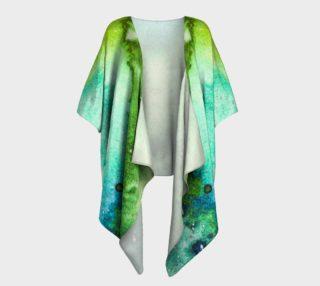 Aperçu de Coral Reef Dream Draped Kimono