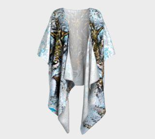 Snow Wolf Draped Kimono preview