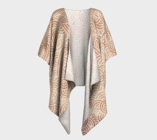 Iced coffee and white swirls doodles Draped Kimono preview