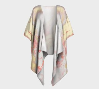 Coral Metallic Royalty Draped Kimono preview