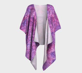 Neon purple and pink swirls doodles Draped Kimono preview