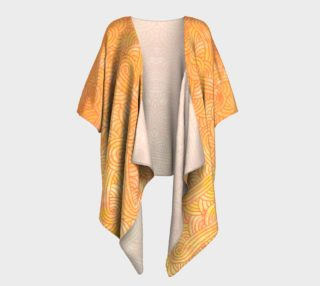 Yellow and orange swirls doodles Draped Kimono preview
