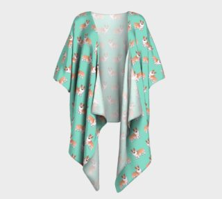 Welsh corgi dogs pattern Draped Kimono preview