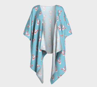Sphynx cats pattern Draped Kimono preview