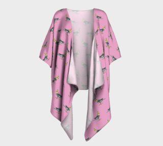 Cockateel birds pattern Draped Kimono preview