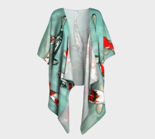 Le ballet des carpes koï Draped Kimono preview