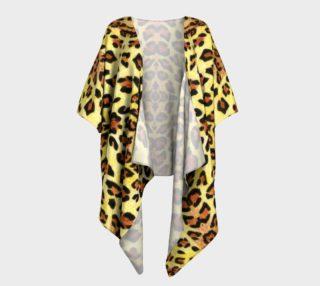 Leopard fur Draped Kimono preview