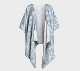 Swirls with Leopard Appaloosa Horse Draped Kimono Top preview