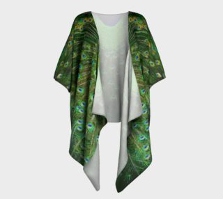 Peacock Wheel Draped Kimono preview