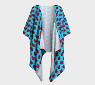 Ladybugs Pattern-Blue Draped Kimono preview