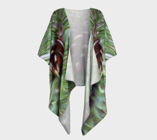 Silky Pinecone Draped Kimono preview