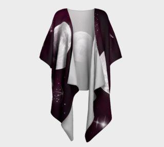 Night Sky in Purple Draped Kimono preview