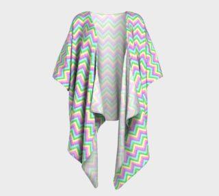 Pastel Chevron Pattern Draped Kimono preview