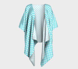 Polka Dots Pattern-Blue Draped Kimono preview