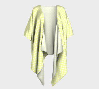 Polka Dots Pattern-Yellow Draped Kimono preview