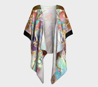 Pastel Floral Branch Draped Kimono preview