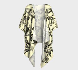 BKC Black Butterfly Draped Kimono preview