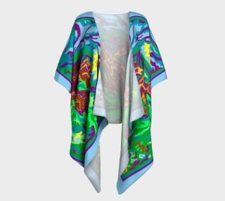 Purple Feathered Horses Kimono 1 preview