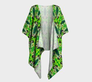 Green Emotion Draped Kimono N preview