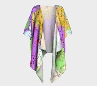 Aperçu de  Doodle flowers Draped Kimono