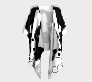english springer spaniel peeking black and white preview