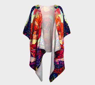 Jeweled Rose Draped Kimono preview
