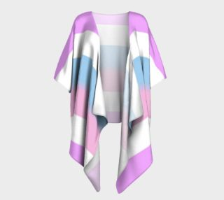 BIG Stripes Draped Kimono preview