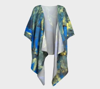 Flowers in the Sky Draped Kimono preview