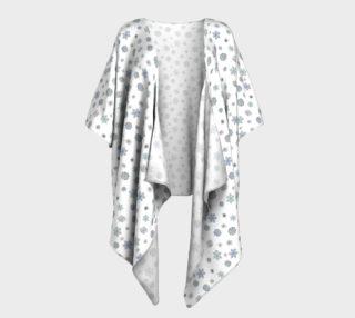 Snowflakes Draped Kimono preview