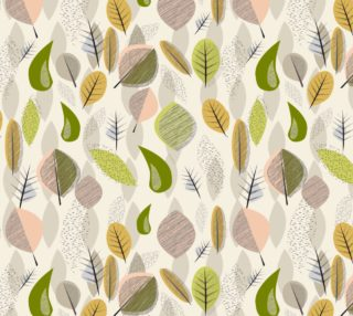 Mid-Century Modern Falling Leaves sm preview