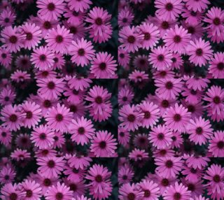 Pericallis Purple Flower Fabric preview