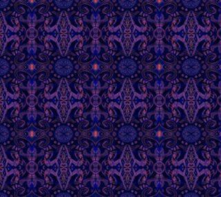 Aperçu de Curves & lotuses, abstract floral pattern, ultra-violet