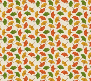 Aperçu de Fall ginkgo biloba leaves pattern Fabric