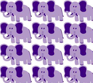 Purple Elephant Fabric preview