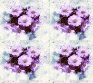 Six Purple Flowers Fabric preview