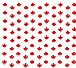 Red Maple Leaf Pattern from Flag of Canada Fabric aperçu