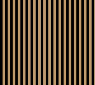Aperçu de One Inch Black and Camel Brown Vertical Stripes. Each stripe is one inch wide.