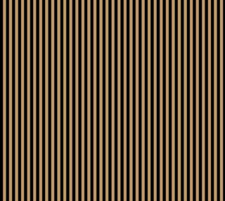 Aperçu de Half Inch Black and Camel Brown Vertical Stripes. Each stripe is a half inch wide.