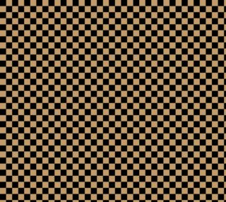 Aperçu de One Inch Black and Camel Brown Checkerboard Squares. Each square is one inch wide and tall.