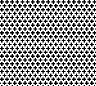 Aperçu de Black Crosses on White