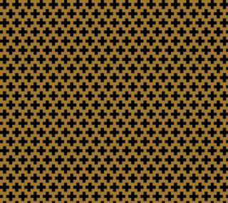 Black Crosses on Matte Antique Gold preview